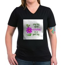 Any Day Spent Stitching - Goo Shirt