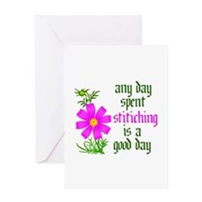 Any Day Spent Stitching - Goo Greeting Card