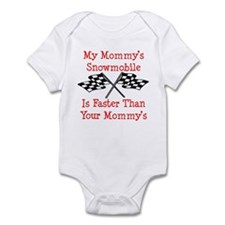 Mommys Snowmobile Is Fast Infant Bodysuit