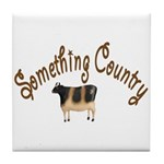Something Country Cow Tile Coaster