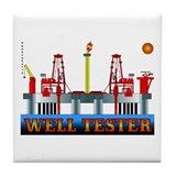 Well Tester Tile Coaster