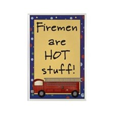 Fireman are Hot Stuff Rectangle Magnet (100 pack)