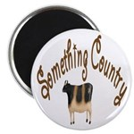 Something Country Cow Magnet