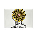 I Like to Make Stuff Rectangle Magnet (100 pack)