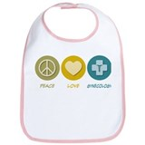 Peace Love Gynecology Bib