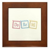 Do Re Mi Baby Blocks Framed Tile