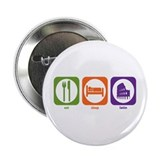 "Eat Sleep Latin 2.25"" Button (10 pack)"