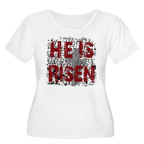 He is Risen Women's Plus Size Scoop Neck T-Shirt