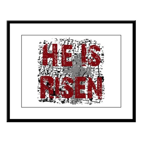 He is Risen Large Framed Print