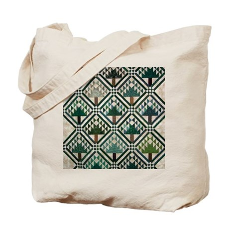 Tree quilt quilt craft tote bag by craftygear for Arts and crafts tote bags