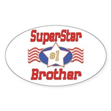 Superstar Brother Oval Sticker (10 pk)
