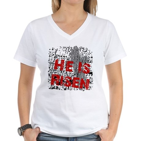 He is Risen Women's V-Neck T-Shirt