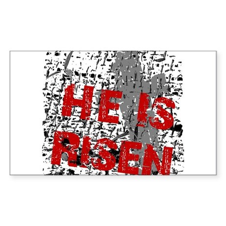 He is Risen Rectangle Sticker