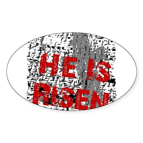 He is Risen Oval Sticker
