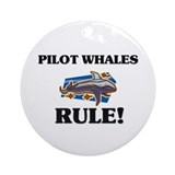 Pilot Whales Rule! Ornament (Round)