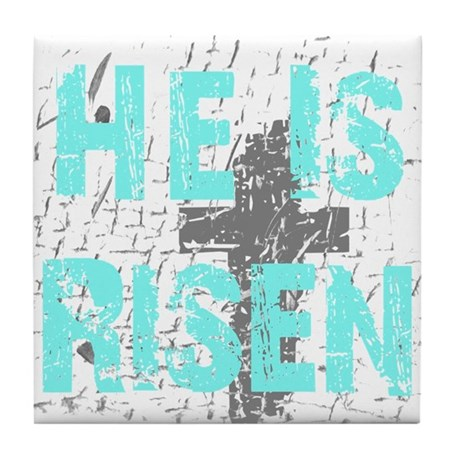 He is Risen Tile Coaster