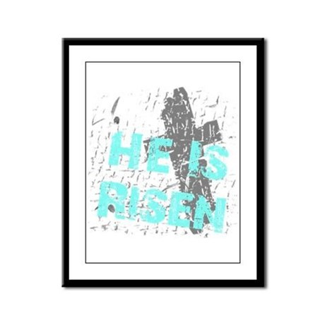 He is Risen Framed Panel Print