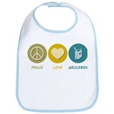 Peace Love Groceries Bib