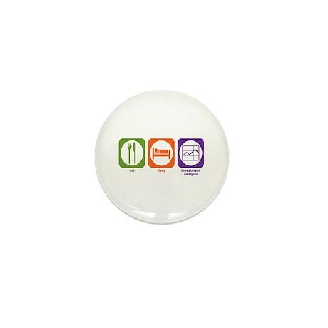 Eat Sleep Investment Analysis Mini Button (10 pack