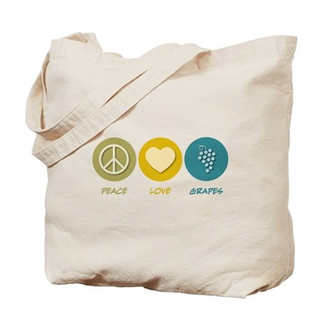 Peace Love Grapes Tote Bag