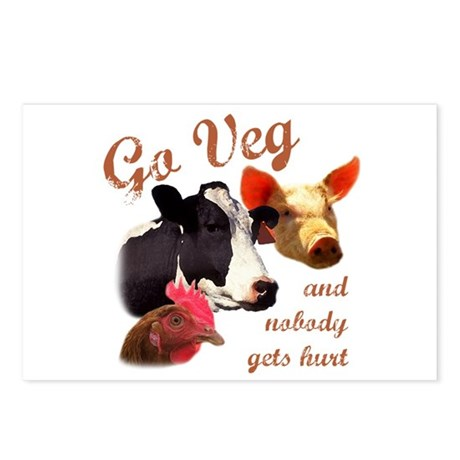 Go Veg Postcards (Package of 8)