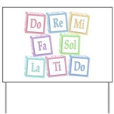 Solfege Baby Blocks Yard Sign