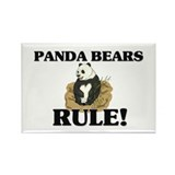 Panda Bears Rule! Rectangle Magnet (10 pack)