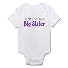 Only Child to Big Sister Purp Infant Bodysuit