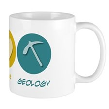 Peace Love Geology Small Mug
