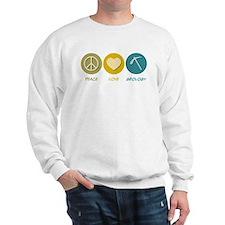 Peace Love Geology Sweatshirt