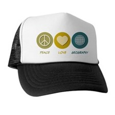 Peace Love Geography Trucker Hat