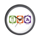 Eat Sleep Hurdles Wall Clock