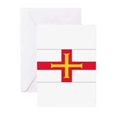 Guernsey Blank Flag Greeting Cards (Pk of 20)