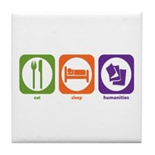 Eat Sleep Humanities Tile Coaster