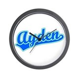 Retro Ayden (Blue) Wall Clock