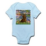 Dachshund in Monet's Lilies Infant Creeper