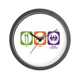 Eat Sleep Home Economics Wall Clock