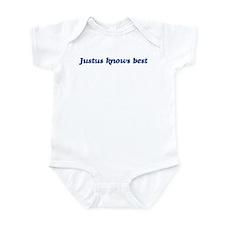 Justus knows best Infant Bodysuit