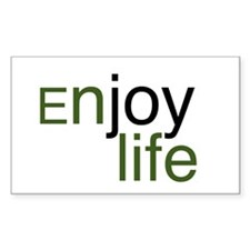 Enjoy life Rectangle Sticker 10 pk)