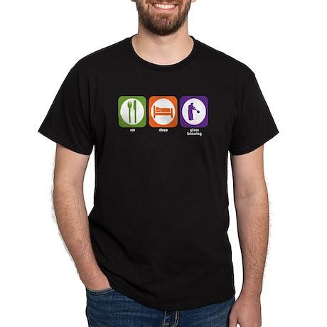 Eat Sleep Glass Blowing Dark T-Shirt