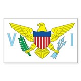 VIRGIN-ISLANDS-FLAG Rectangle Decal