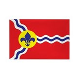 ST-LOUIS-FLAG Rectangle Magnet