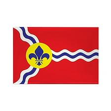 ST-LOUIS-FLAG Rectangle Magnet