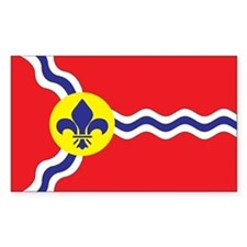 ST-LOUIS-FLAG Rectangle Decal