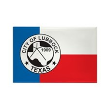 LUBBOCK-FLAG Rectangle Magnet