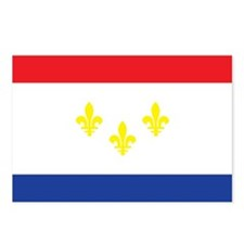 NEW-ORLEANS-FLAG Postcards (Package of 8)