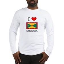 I Love Grenada Long Sleeve T-Shirt