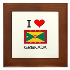 I Love Grenada Framed Tile
