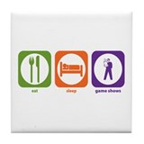 Eat Sleep Game Shows Tile Coaster