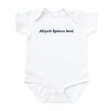 Aliyah knows best Infant Bodysuit